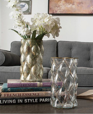 【Creative Co-Op Home】 Glass & Wire Candle Vase