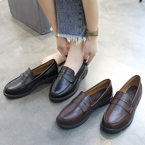 【flat-shoes】2018 new Korean simple casual loafer