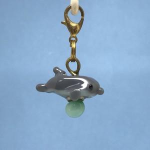 動物とんぼ玉チャーム *イルカ*