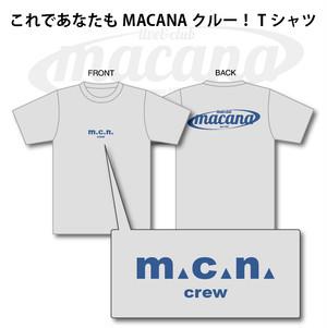 MACANA crew T-shirt【グレー】