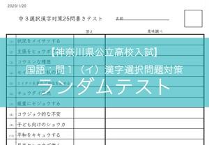 神奈川・東京自校作成《漢字対策》書き25問テスト ランダム作成機能付・編集可