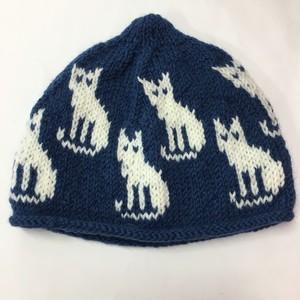 ゑでぃの手編みニット帽 ネコ