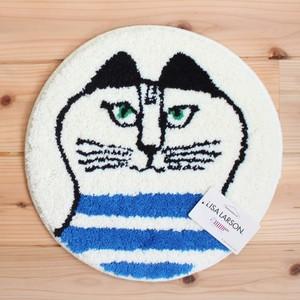 LISA LARSON(リサ・ラーソン) チェアパッド ミンミブルー  猫 北欧 35cm 丸型 クッション LL-003