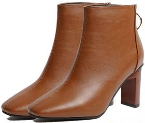 【在庫限り】[スカイシイ] 3カラー ブーツ スクエアトゥ ショートブーツ シンプル レディース 22~23cm