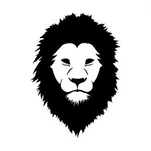 ライオンのカッティングステッカー・シール 光沢タイプ・耐水・屋外耐候3~4年