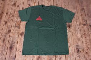 茶ネズミ T-SHIRT GREEN/RED