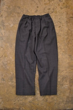 COMFORTABLE REASON / Wool Glen Check Slacks