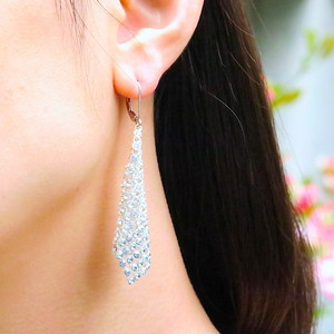 TRIANGLE BICOLOR EARRINGS