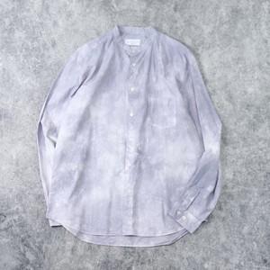 【MANUAL ALPHABET】TIE DYE LOOSE FIT BAND COLLOR SHIRT (GREY) マニュアルアルファベット 長袖シャツ バンドカラー タイダイ染め 日本製 MADE IN JAPAN