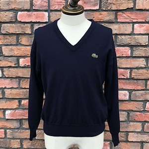 1980s Lacoste V_Neck Knitwear Navy Made In France 4