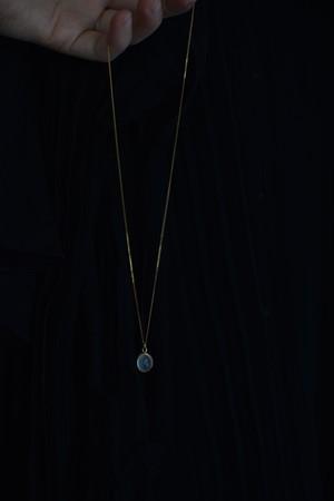 GAGAN  moonstone necklace 18kgp