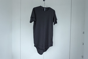 UNDERCOAT / Layered cutsew / WASHED BLK