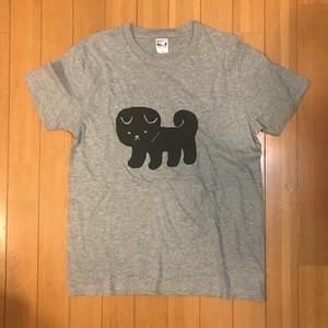 こいぬ1ひきTシャツLサイズ(杢グレー)
