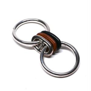 Hermès Vintage Sterling Silver & Leather Key Ring