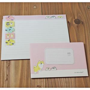 【しばんばん】レターセット(わくわく)(ピンク)【犬柄 柴犬】