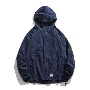 【UNISEX】プリント カジュアルジャケット フード 【2colors】