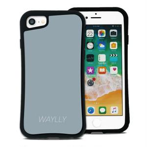 スモールロゴ グレー セット WAYLLY(ウェイリー) iPhone 8 7 XR XS X 6s 6 Plus XsMax対応!_MK_