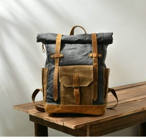 Retro Waterproof Canvas Travel Backpack Laptop Large Capacity Bag Vintage Casual Bag レトロ カジュアル バックパック リュック ビンテージ 防水 (YYB0-9666216)