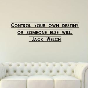 ジャック・ウェルチ 座右の銘の壁用シール ステッカー