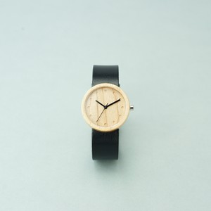 Maple wood - Organic leather Black - M