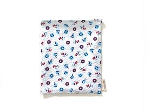 ハリネズミ用寝袋 M(夏用) 綿リップル×スムースニット マリン ホワイト