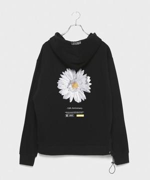 BLOOM Embroidery Hoodie [ Black]