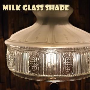 ホワイトオパール ミルクガラスシェード クイックライト WHITE OPAL MILK GLASS SHADE for QUICK-LITE コールマン テーブルランプ CQ 10インチ ホルダー
