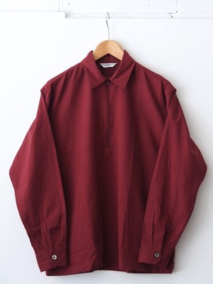 FUJITO Half Zip Shirt Burgundy,Navy