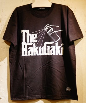 The RAKUGAKI Father Logo T-Shirts Black × White