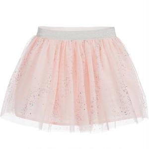 【Biscotti & KateMack2018ss】カラーラインストーン付きピンクチュールスカート