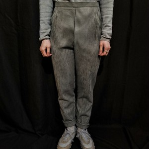 Gingham check pants /Made In U.K. [1624]