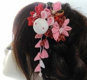 七五三-髪飾り つまみ細工