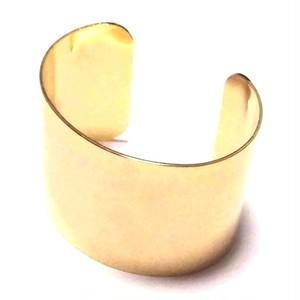 Yochi NEWYORK ヨキニューヨーク ワイドバングル ブレスレット ゴールドバングル 18金 メッキ カフ wide dome cuff gold