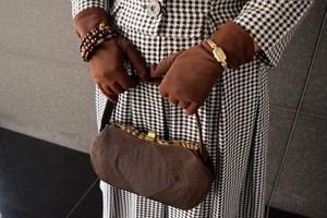 VINTAGE brown code bag