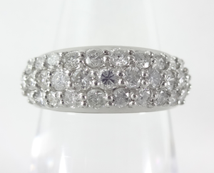 【SOLD OUT】1.00ct パヴェダイヤ ハーフエタニティリング プラチナ ~【Good Condition】1.00ct Pave Diamond Half Eternity Ring Platinum~
