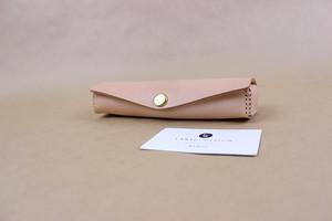 JAPAN LANSUI DESIGN 名入れ対応 ヌメ革手作り手縫い ペンケース 品番AS4218FSJADFK82GAR