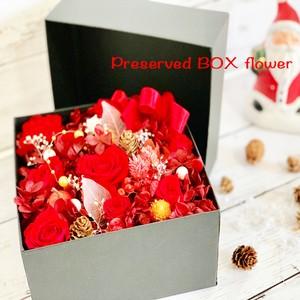 christmasプリザーブドフラワーボックス「RED」
