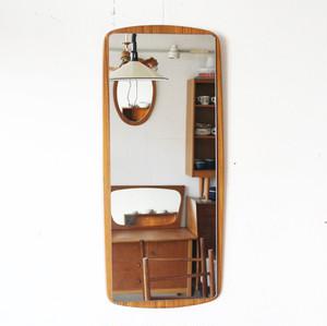 1960~70年代 イギリス ヴィンテージ チーク 壁掛け ミラー 鏡