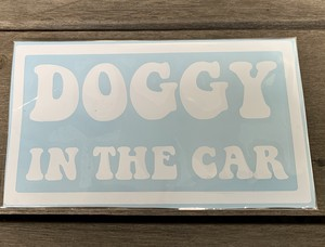 """DOG IN CAR"" DECAL ⑤"