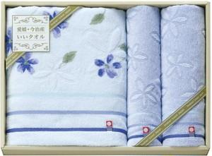 愛媛・今治産いいタオル バスタオル1P・フェイスタオル1P・ウォッシュタオル1P BOL-70140