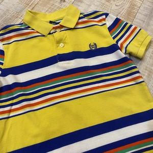 キッズ CHAPS ポロシャツ マルチボーダー 黄 5