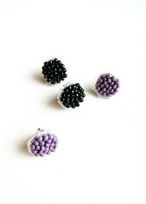 ビーズピアス/ Round Beads earring