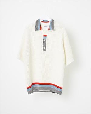 【COOHEM】テックニットポロシャツ: ホワイト