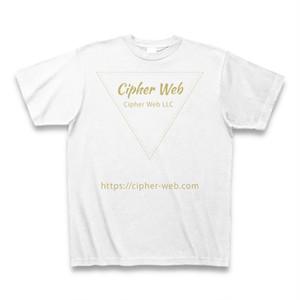 CipherWebLLCトライアングルロゴTシャツ(ホワイト)