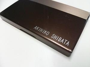 アルミニウム製名刺カードケース 名前入れ
