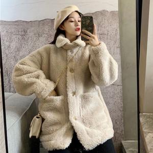【アウター】秋冬ファッションスエードフェアリー 折り襟厚いコート