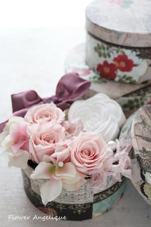 プリザとアロマの香りを楽しむBOXアレンジメント (送料無料)