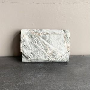 -Marble Stone- Minimal Wallet  【carmine】