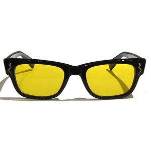 "Shady Spex ""The Subterranean Homesick"" sunglasses, Shiny Black w/Mustard Lens"