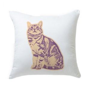 キャンディポップアート猫クッション【Pop cat 見上げる猫】